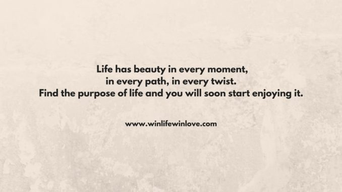 purpose of life, what is life, life quotes